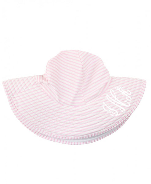 Pink Seersucker Swim Hat - Jessi Jayne Boutique