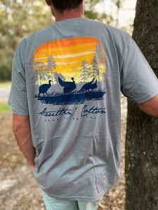 Destination Roost Mens Hurricane Grey Sunset Turkey Pocket Tee