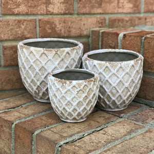 Ceramic Diamond Pattern Pot