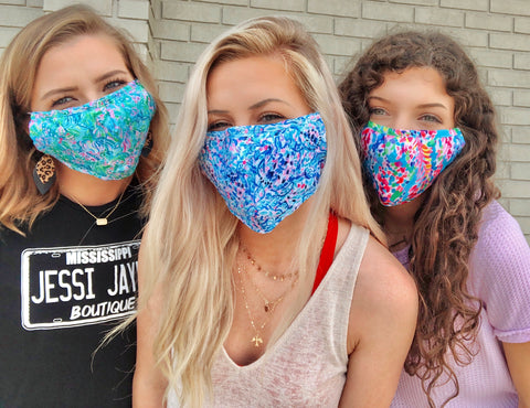 LP Inspired Adjustable Cloth Fask Mask Adult - Inside Pocket for better protection. - Jessi Jayne Boutique