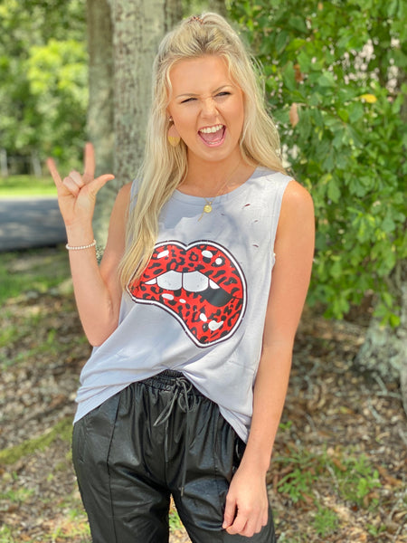 Wild But Sweet Distressed Tank - Jessi Jayne Boutique
