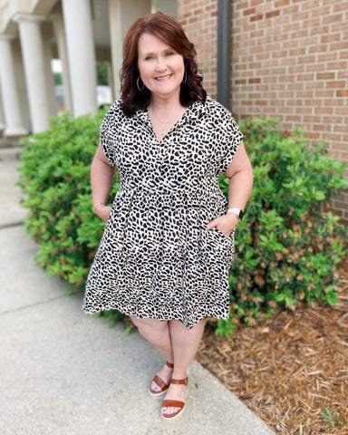 Path to You Spotted Curvy Dress