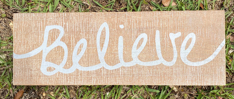 Believe Distressed Wooden Wall Decor - Jessi Jayne Boutique
