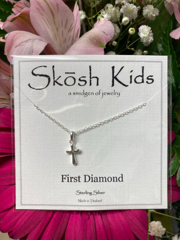 First Diamond Cross Kids SKOSH Necklace