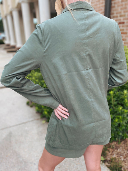 Trailblazed Light Olive Blazer