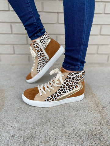 Matisse Leopard Matchmaker High top Sneakers