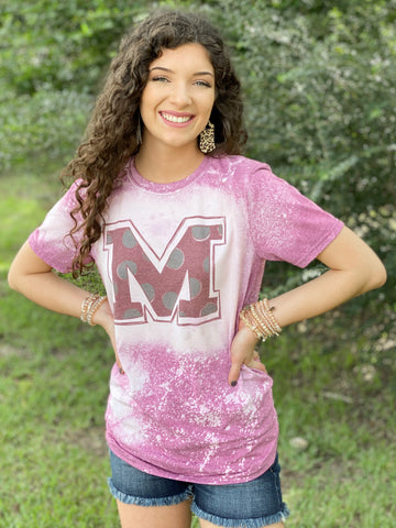 Mississippi State Bleached Graphic Tee