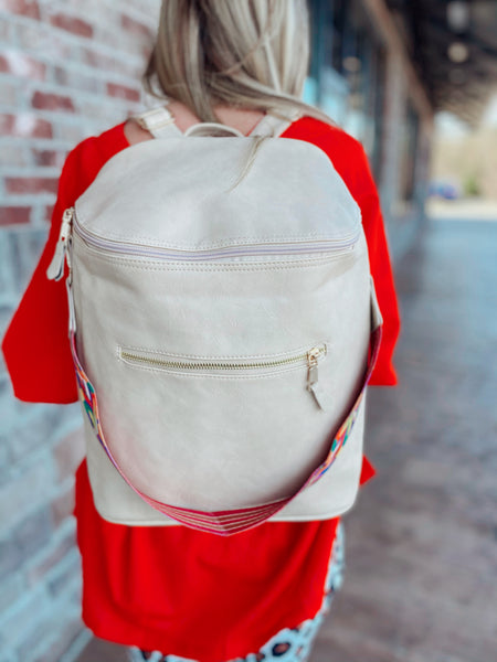 Cool Chloe Pleather Backpack
