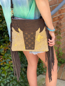 Jaded Gypsy Fringe Crossbody Purse