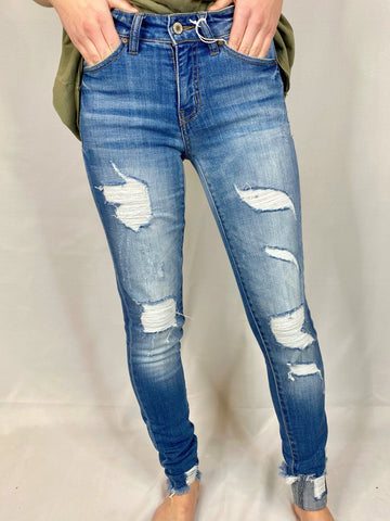 Oh So Classy Mid Rise Skinny Jean