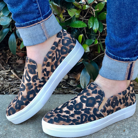 Gills Leopard Steve Madden Slips On Shoes