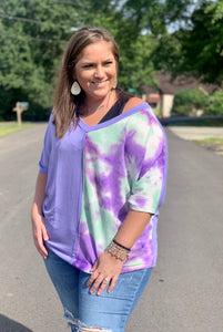Iris Bliss Tie Dye Dolmen Top