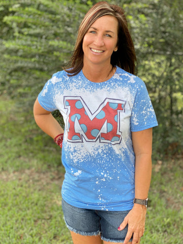 Ole Miss Bleached Graphic Tee