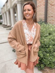 Flower Child Fuzzy Sweater Cardigan