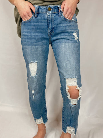 Call Me Back Destroyed Skinny Boyfriend Jeans
