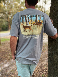 The Chase Grey Pocket Short Sleeve Mens Tee