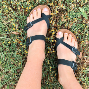 Outwoods Double Buckle Strap Sandal - Jessi Jayne Boutique