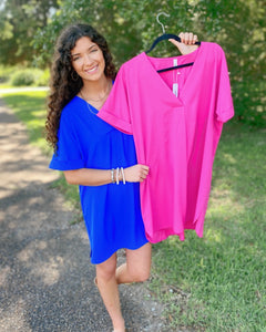Ready for Anything V-Neck Dress (2 Colors)