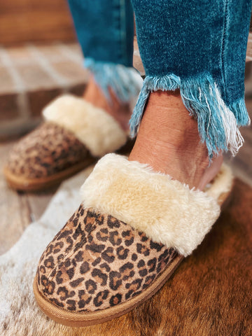 Adult Snooze Leopard Corkys Slippers