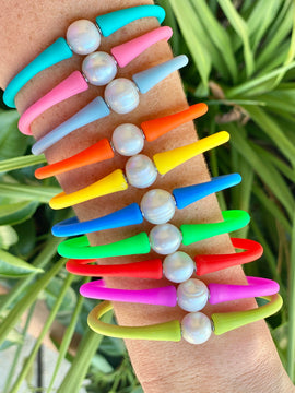 Pearl Silicone Stretchy Bracelet