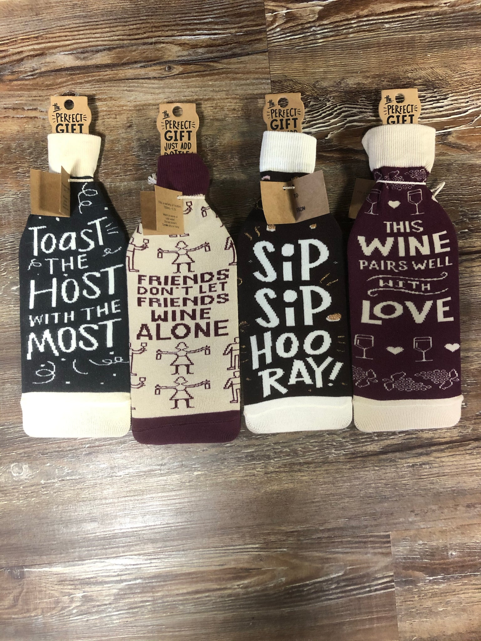 Wine Bottle Socks - Jessi Jayne Boutique