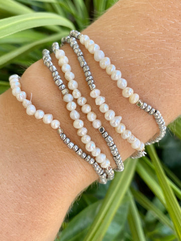 Beaded Pearl Bracelet Set - Jessi Jayne Boutique