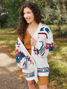 Home for the Holidays Printed Cardigan
