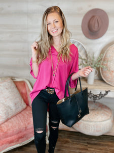 Picture Perfect High Low Blouse