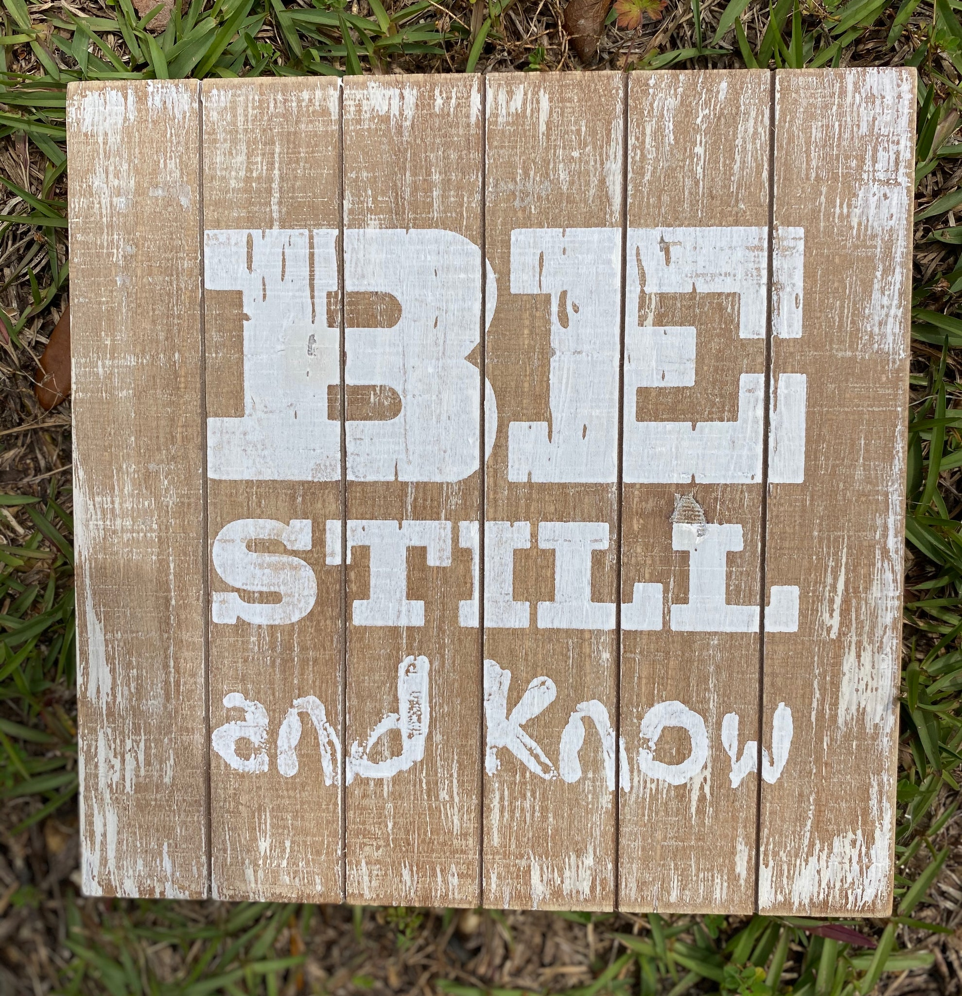 Be Still And Know Distressed Wooden Wall Decor - Jessi Jayne Boutique