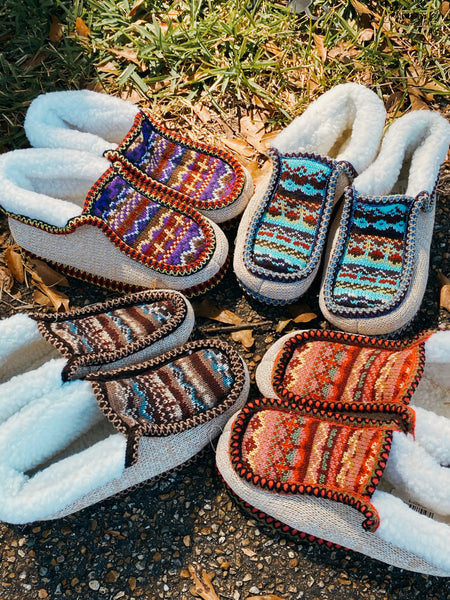 Knitted Design Ankle Slippers