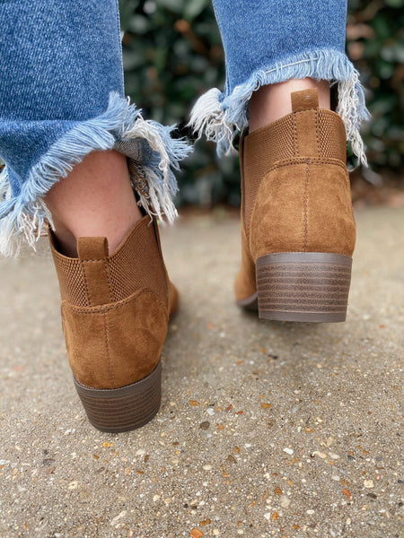 Rager Coffee Suede Bootie