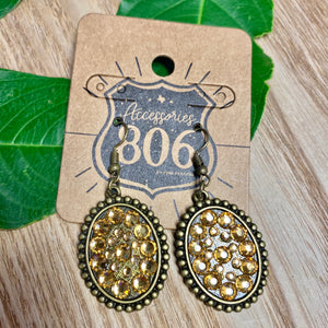 Baby Bronze Oval Antique Gold Stud Earrings - Jessi Jayne Boutique