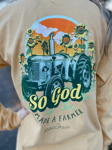 So God Made A Farmer Long Sleeve Tee