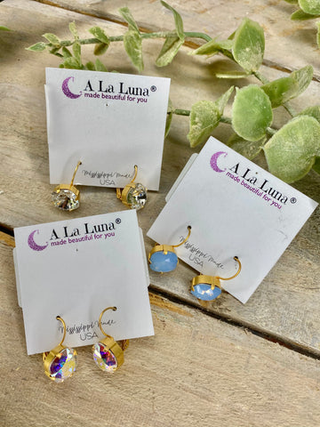 A La Luna 12mm Drop Hook Back Earrings