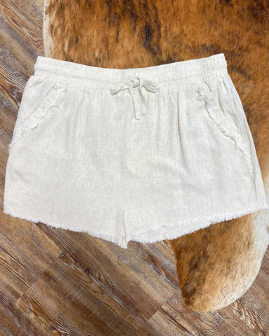 Tranquility Curvy Ladies Linen Shorts