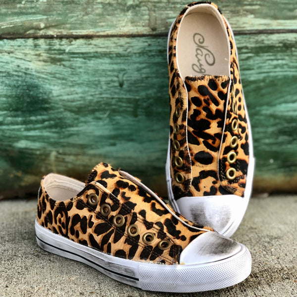 Shalomar Leopard Hide Slip On Shoe - Jessi Jayne Boutique