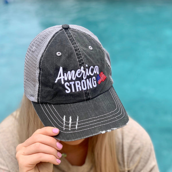 Grey Trucker Hats - Jessi Jayne Boutique