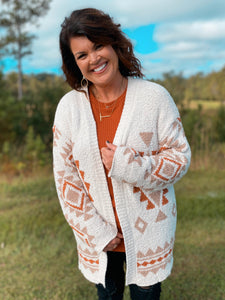 Rio Rancho Clay Sweater Cardigan