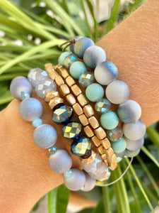 Multi Blue/Green Bracelet Set - Jessi Jayne Boutique