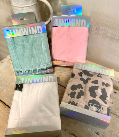 The Unwind Microfiber Hair Towel