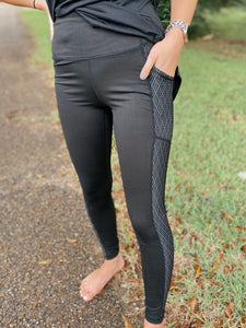 Diamond Hybrid High Waist Leggings