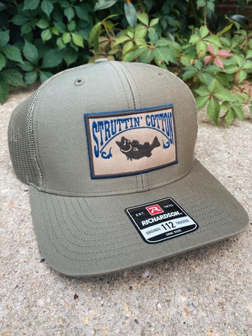 Largemouth Bass Patch Snapback Trucker Hat