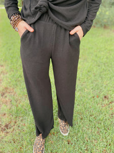 Chase The Night Cropped Palazzo Pants
