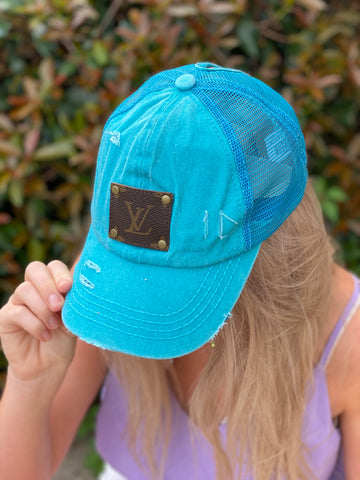 Distressed LV Patch Ball Cap - Jessi Jayne Boutique