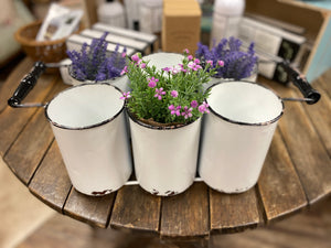 White Distressed Farmhouse Planter - Jessi Jayne Boutique