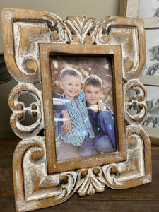 Wood Carved 4x6 Picture Frame