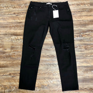 Smoke & Ashes Black Kan Can Curvy Ladies Skinny Jeans - Jessi Jayne Boutique