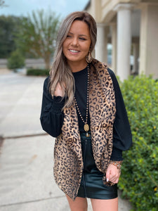 Fabulous Fur Leopard Vest with Pockets