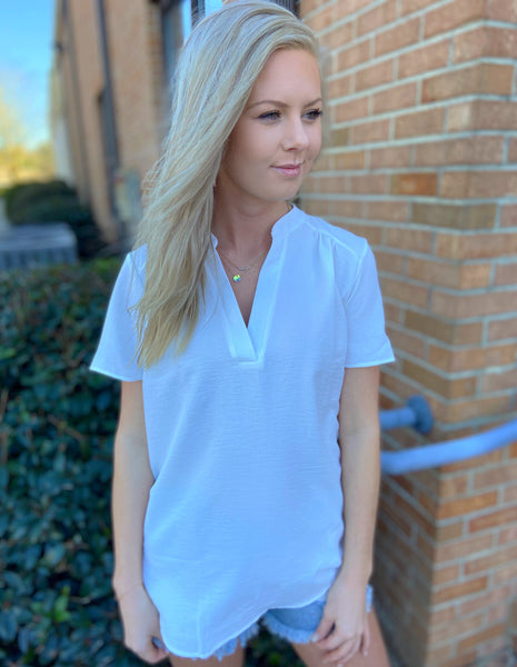 Spring Forward White Blouse - Jessi Jayne Boutique
