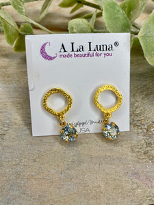 Golden Rings Crystal Drop Earrings A LA Luna
